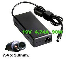 Alimentatore carica-batteria x NOTEBOOK HP 19V 4,74A 90 WATT (7,4x5,0 mm.)
