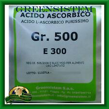ACIDO ASCORBICO PURO - VITAMINA C - GR. 500 - E300