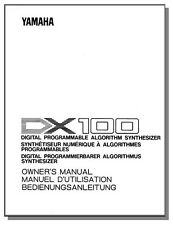 YAMAHA DX-100 OWNER'S MANUAL DX100 DX 100 - Get it Fast! - First Class Shipping!