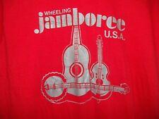 Vintage 70s WHEELING JAMBOREE The Country Music Tour Show Concert WWVA T-Shirt X