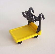 PLAYMOBIL (W106) GARE - Chariot Jaune Transport Bagages Voyageurs 4200 4202 4300