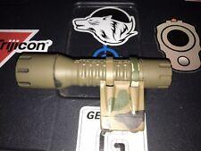 Multicam Elzetta Zrx flash light mount With Streamlight Polytac Fde