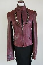 Rock & Republic Deep Burgundy Vintage Leather Jacket Size  Medium