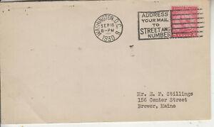 1ST DAY COMMERCIAL USAGE #689 VON STEUBEN D.C. SEP 19 1930 SLOGAN CANCEL