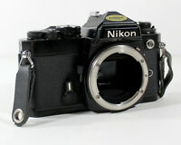 Nikon FE 35mm Vintage SLR Film Camera Body Only with StrapTested Excellent Cond.