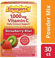 Emergen-C Drink Mix Strawberry Kiwi 1000 mg Vitamin C 30 Packets Expires 12/2021