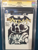 KELLEY JONES ORIGINAL Sketch CGC 9.8 Signed BATMAN AZRAEL COMIC JOKER NOT CBCS