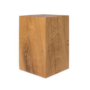 Holzklotz Holzblock Eiche Massiv 20x20 cm Massivholz Eichenklotz Eichenblock