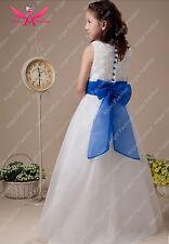 Ivory Purple Flower Girl Dress In Dresses 2 16 Years For Girls Ebay