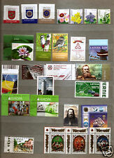 Latvia 2016 full YEAR SET Christmas ,RAILWAY , EIROPA , AIRPLANE, SHIP, Bird MNH