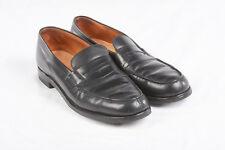 Mens JM WESTON Shoes Sz 11 B in 180 Ink Black Split Toe Penny Loafer Rubber Sole