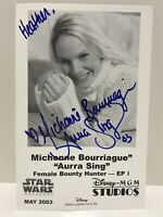 STAR WARS Michonne Bourriague Aurra Sing Bounty Hunter Disney MGM Signed Photo