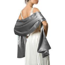 Ladies Satin Long Scarves Bridesmaid Prom Shawl Stole Wrap Scarf Throw Pashmina