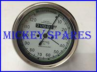 New Royal Enfield Smiths Replica Speedometer 0-120 miles/hr White