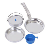 Mess Kit - 5 Pc.- Lightweight Aluminum - Camping Hiking - Great Starter Kit