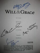 Will and & Grace Signed Script Girl Debra Messing Eric McCormack Sean Hayes rpnt