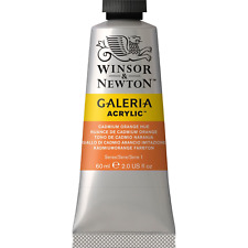 Winsor & Newton Galeria Acrylic Color Tube, 60ml, CADMIUM ORANGE HUE 2120090 NEW