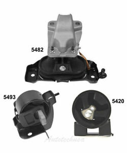For Dodge Grand Caravan VW Routan Motor & Trans. Mount M1221 Set 5420 5482 5493