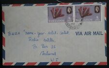 1969 Barbados Airmail Cover ties 2 x 5c stamps to Montserrat