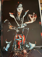 KISS VINTAGE 1976 76 MOTORCYCLE ACE FREHLEY AUCOIN MGT ORIGINAL NOS POSTER N/M