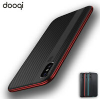 Shockproof TPU Hybrid Carbon Fiber Case Cover For iPhone X / XS / 8 Plus / 8 / 7