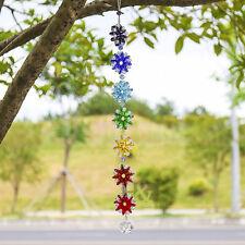 Chakra Crystal Glass Suncatcher Handmade Pendant Rainbow Maker Healing Gift