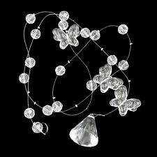 Glass Garland Beads Crystals 1 x Strand String Net Hanging Windows Decoration