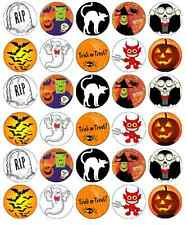 Halloween Kids Cupcake Toppers Edible Wafer Paper BUY 2 GET 3RD FREE!