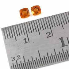 Set of 2 Faceted JALISCO MEXICAN FIRE OPAL Cushion 4mm Loose Gemstones 0.37 Cts.