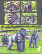 Jersey-Jambo the Gorilla set & min sheet mnh-Apes