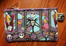 Jack Skellington Sally Stained Glass Halloween Small Cosmetic Case
