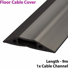 9m x 68mm Heavy Duty Rubber Floor Cable Cover Protector-Conduit Tunnel Sleeve
