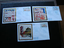 FRANCE (timbre service) - 3 enveloppes 1er jour 20/10/1984 (cy6) french
