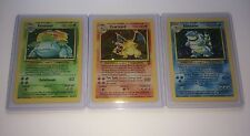Charizard, Blastoise, Venusaur - Pokémon Card Lot - Base Set 2 Rare Holos