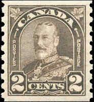Canada Mint NH 1931 2c VF Scott #182 King George V Arch Leaf Coil Stamp