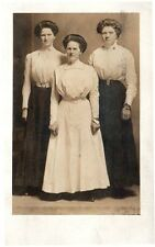 3 Attractive Illinois Ladies Early 1900s Dress. RPPC Posted 1910 Galesburg, Ill.