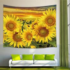 Sunflower flower Tapestry Wall Hanging for Living Room Bedroom Dorm Decor