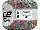 Easter Basket Mini Ladder Yarn #46585 Ice Pink Green Blue Lilac Ribbon 50gr 136y