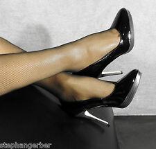 Sexy PLEASER Plateforme Talons Hauts Verni Escarpins 36 Noir Elegant Gogo bettschuhe