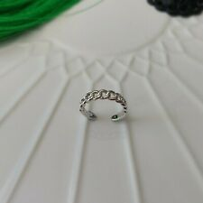 Open Braided Toe Ring Solid 925 Sterling Silver