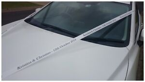 Wedding Car Ribbon Personalised For Wedding Formals Funeral Special Occasion