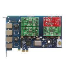 AEX410 1FXO + 3FXS Asterisk card PCI-e card for elastix trixbox freepbx voip pbx