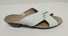 Munro Kelsey Sandals, White Leather, Women's 11 Extra Wide