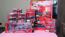 Shell V-Power Ferrari Passion Series 1/43 burago NEW FULLset with racing garage
