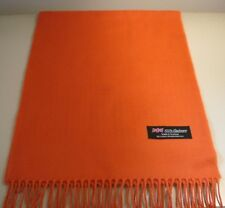 "New $250 Luigi Borrelli Orange Solid Long Scarf LBSS12208 66/"" x 27/"""