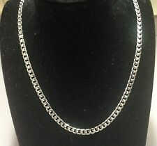 """14k Solid White Gold Miami Cuban Curb Link 28"""" 5mm 32 grms chain/Necklace WMC150"""