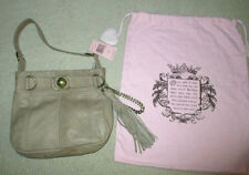 Juicy Couture Taupe Tan Leather Shoulder Bag Purse Handbag Dustbag