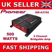 Pioneer 2 Channel Amplifier Two Channel Bridgeable Car Amp 500 Watts GM-A3702