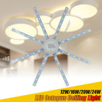 LED Ceiling Lamp Octopus Indoor Light Board Energy Saving 220V 12W 16W 20W