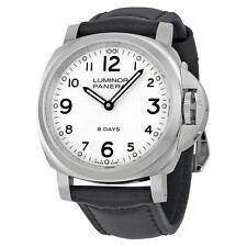 Panerai Luminor Base 8 Days Acciaio Mechanical White Dial Mens Watch PAM00561